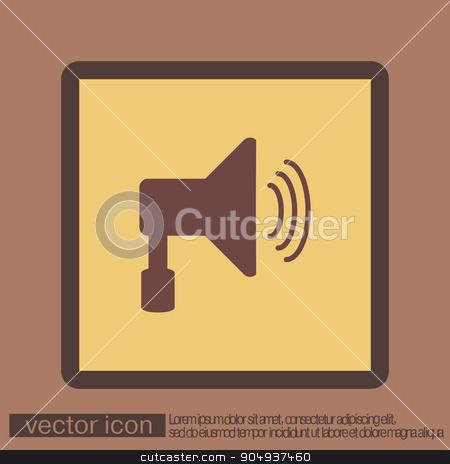 loudspeaker, Volume icon . sound icon stock vector clipart, loudspeaker sign. Volume icon . sound icon by LittleCuckoo