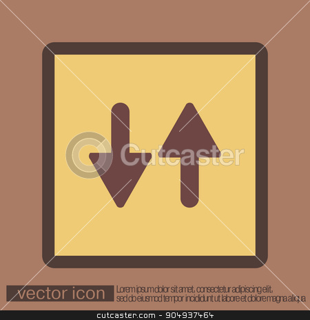 two arrow up sign. stock vector clipart, two arrow up sign. reload symbol by LittleCuckoo
