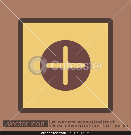 Plus sign icon. Positive symbol. stock vector clipart, Plus sign icon. Positive symbol. by LittleCuckoo