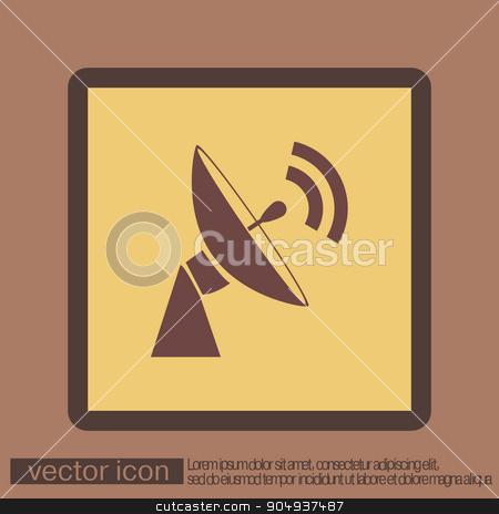 satellite dish icon. radar sign. antenna symbol stock vector clipart, satellite dish icon. radar sign. antenna symbol by LittleCuckoo