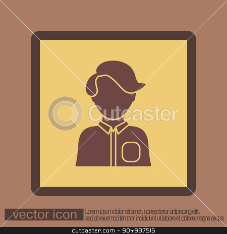 A male or female avatar. Man or woman avatar sign stock vector clipart, A male or female avatar. Man or woman avatar sign by LittleCuckoo