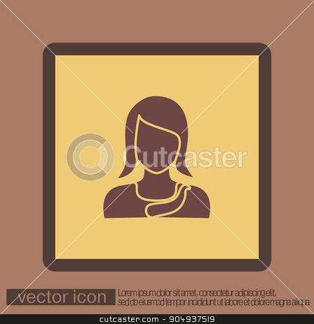 A female avatar. Avatar of a woman.  stock vector clipart, A female avatar. Avatar of a woman.   by LittleCuckoo