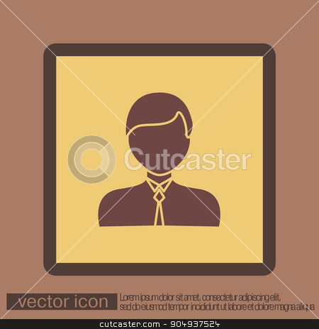 A male avatar. Picture a man.  icon image guy in tie . Manager or an office worker . stock vector clipart, A male avatar. Picture a man.  icon image guy in tie . Manager or an office worker . by LittleCuckoo