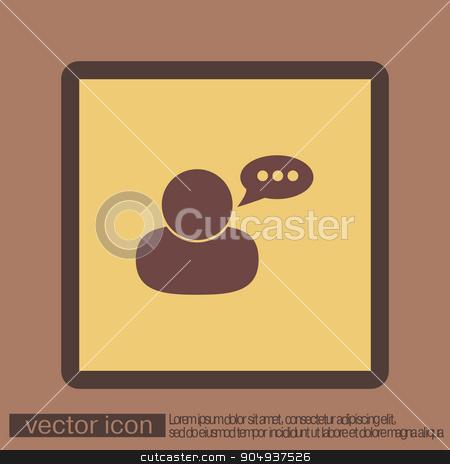 character avatar dialogue. stock vector clipart, character avatar dialogue sign. man speak icon by LittleCuckoo