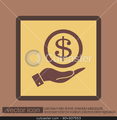 hand holding a Dollar bill. symbol of money stock vector clipart, hand holding a Dollar bill. symbol of money by LittleCuckoo