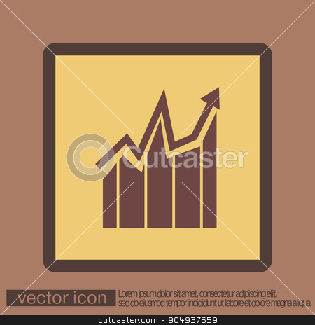 chart diagram figure.  business icon stock vector clipart, chart diagram figure.  business icon by LittleCuckoo