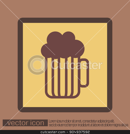 beer icon stock vector clipart, beer icon by LittleCuckoo