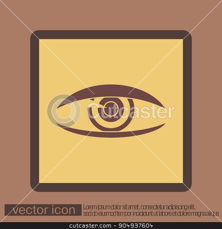 Eye icon stock vector clipart, Eye icon by LittleCuckoo