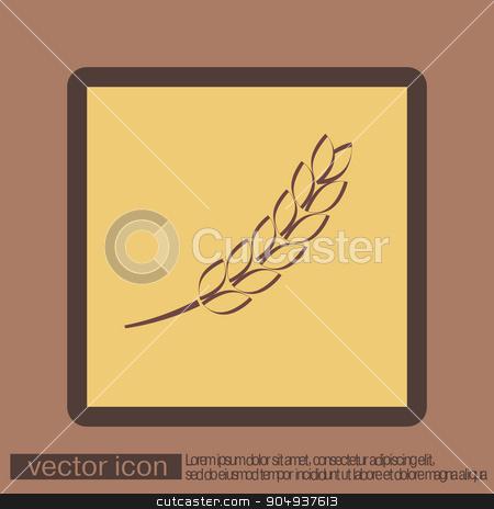 wheat spike ears icon stock vector clipart, wheat spike ears icon by LittleCuckoo