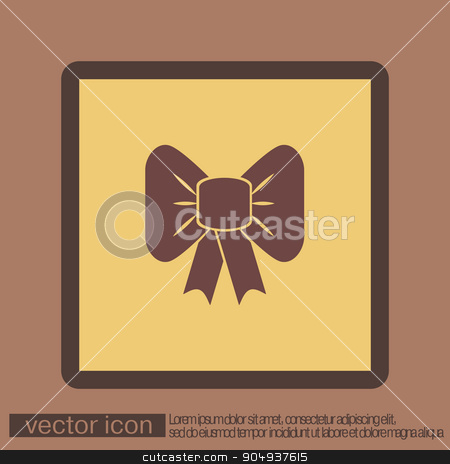 bow icon stock vector clipart, bow icon by LittleCuckoo