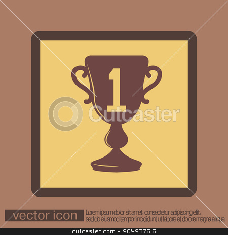 cup for first place icon stock vector clipart, cup for first place icon by LittleCuckoo
