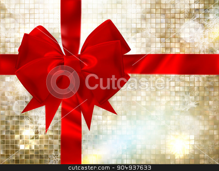 Christmas greeting card. EPS 10 stock vector clipart, Christmas greeting card light and snowflakes background. Merry Christmas holidays wish design and vintage ornament decoration. Happy new year message. EPS 10 vector file included by Vladimir Petrov