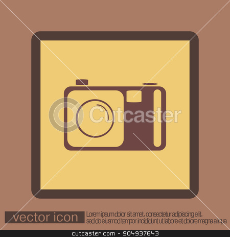 photo camera stock vector clipart, photo camera by LittleCuckoo