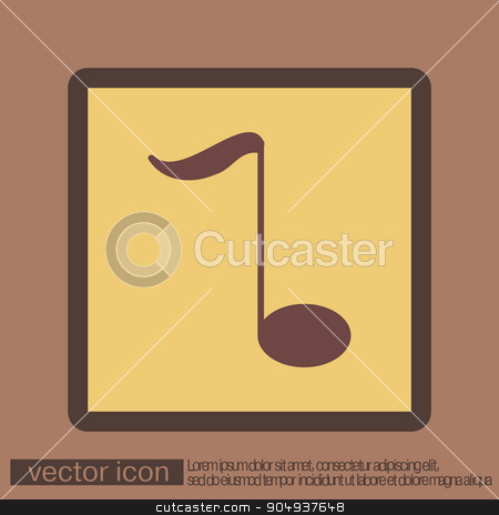 musical note. character singing and the music industry stock vector clipart, musical note sign. character singing and the music industry by LittleCuckoo