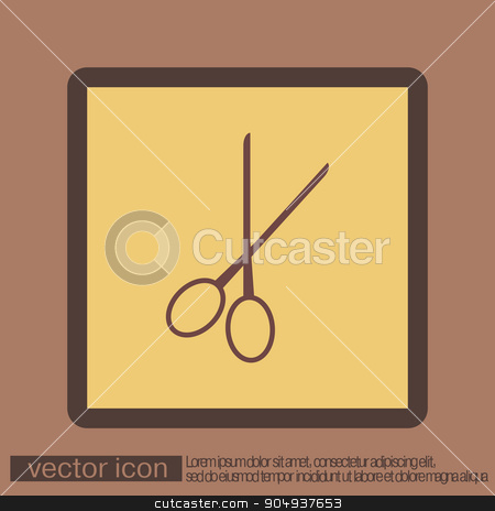 scissors.  barbershop stock vector clipart, scissors sign. barbershop. symbol of hair and beauty salon by LittleCuckoo