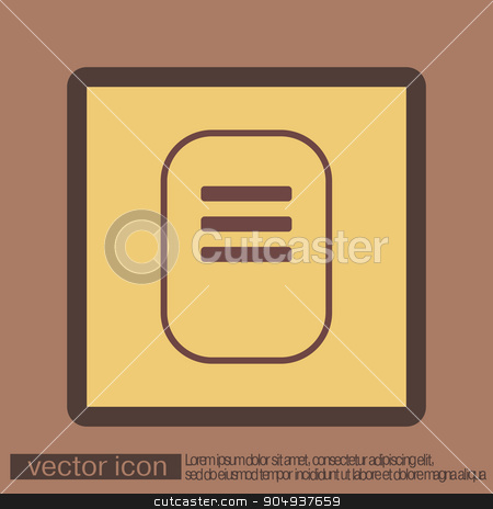 sheet of paper  stock vector clipart, tablet sheet of paper. list by LittleCuckoo