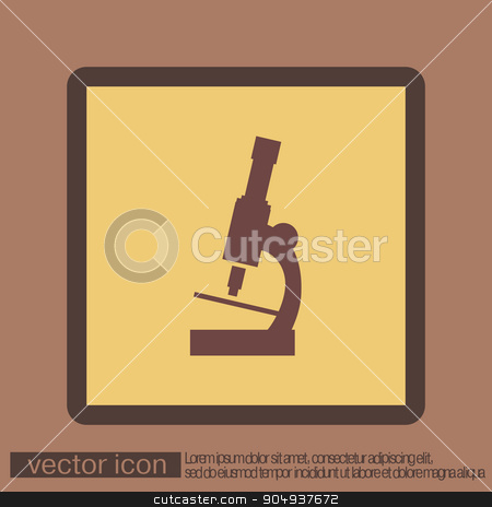 microscope sign. symbol icon studying biology or medicine . enlarged image stock vector clipart, microscope sign. symbol icon studying biology or medicine . enlarged image by LittleCuckoo