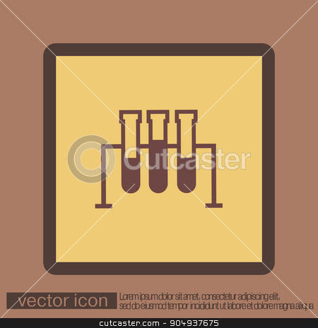 flask bulb medicine or chemistry stock vector clipart, flask bulb symbol chemistry. symbol icon of medicine or chemistry . the study of science by LittleCuckoo