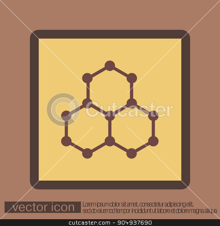 Chemical compound. Symbol chemistry. Icon science stock vector clipart, Chemical compound. Symbol chemistry. Icon science by LittleCuckoo