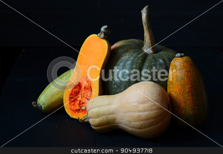 Fresh raw squash stock photo, Sliced Fresh raw squash in autumn season by sutike