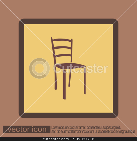 chair icon. symbol furniture. icon home interior stock vector clipart, chair icon. symbol furniture. icon home interior by LittleCuckoo