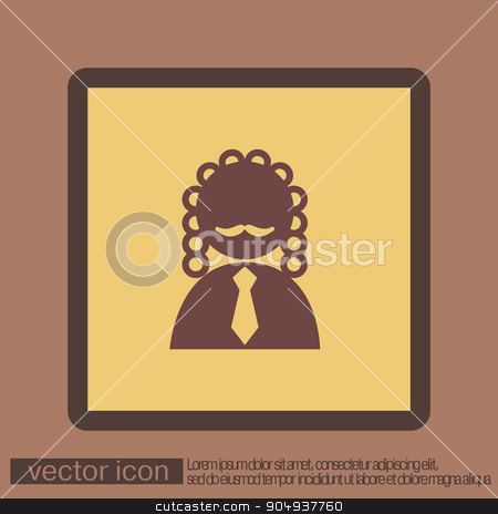 judge icon avatar. symbol of justice stock vector clipart, judge icon avatar. symbol of justice by LittleCuckoo