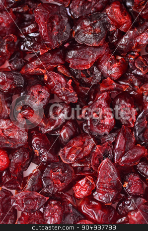 Dried cranberries stock photo, Dried cranberries close-up image by sutike
