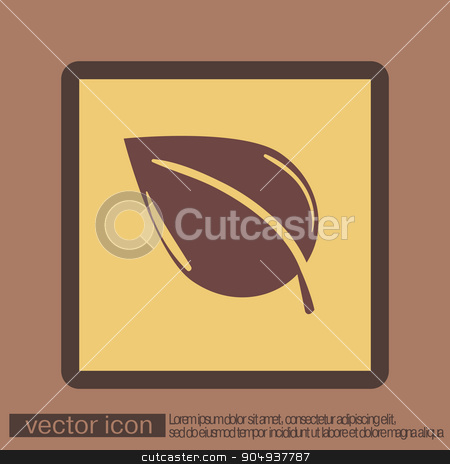 leaf sign. nature icon stock vector clipart, leaf sign. nature icon by LittleCuckoo