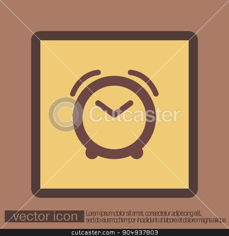 Alarm icon . The clock shows the time stock vector clipart, alarm clock icon. Symbol morning. Alarm icon . The clock shows the time by LittleCuckoo