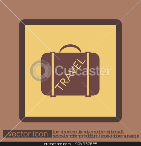 symbol of a suitcase for travel. Travel Bag stock vector clipart, symbol of a suitcase for travel. Travel Bag by LittleCuckoo