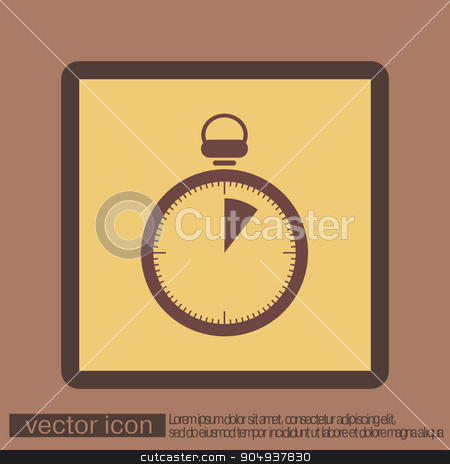 stopwatch. stock vector clipart, stopwatch sign. by LittleCuckoo