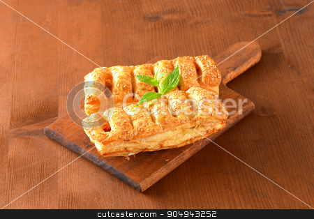 Sausage rolls stock photo, Sausage rolls topped with sesame seeds by Digifoodstock