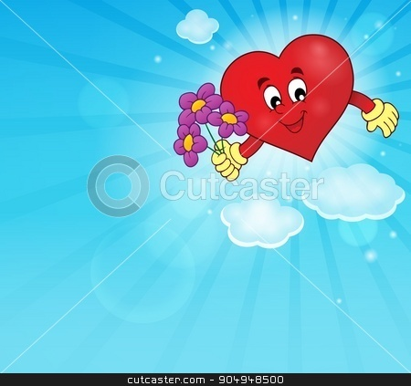 Stylized heart theme image 1 stock vector clipart, Stylized heart theme image 1 - eps10 vector illustration. by Klara Viskova