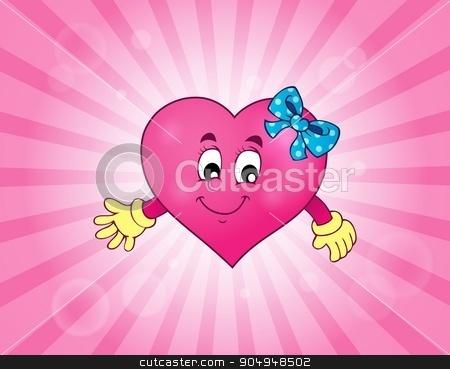 Stylized heart theme image 3 stock vector clipart, Stylized heart theme image 3 - eps10 vector illustration. by Klara Viskova