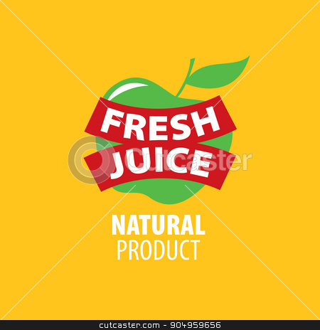 logo of fresh juice stock vector clipart, vector icon fresh juice from natural products by Aleksey Butenkov