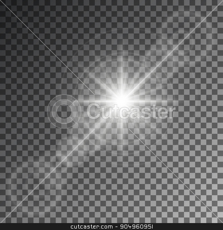 Vector illustration of an abstract stock vector clipart, Vector illustration of an abstract set of images of light and flashes. by Amelisk