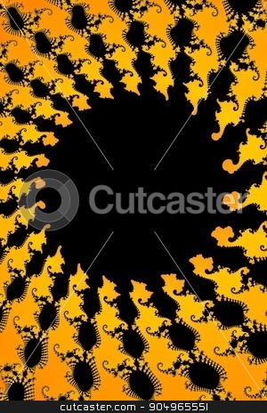 Dark Yellow Fractal stock photo, Fractal background in the different shades of yellow. by Henrik Lehnerer