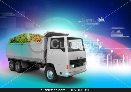 Truck with Dollar money   stock photo, Truck with Dollar money   by brijith vijayan