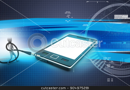 3d graphic with stylish man icon on a smart phone stock photo, 3d graphic with stylish man icon on a smart phone by brijith vijayan