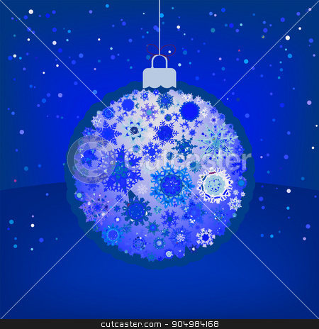Christmas ball in retro style. EPS 8 stock vector clipart, Christmas ball in retro style. EPS 8 vector file included by Vladimir Petrov