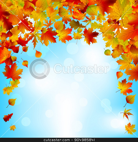 Autumnal sky bright design. EPS 8 stock vector clipart, Autumnal sky bright design. EPS 8 vector file included by Vladimir Petrov