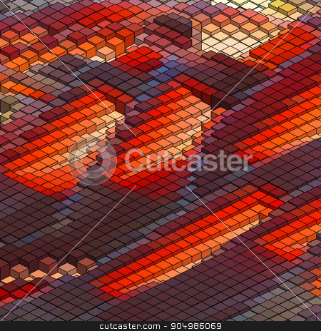Abstract 3d colorful mosaic background. EPS8 stock vector clipart, Abstract 3d colorful mosaic background. EPS8. To see similar visit my portfolio by Vladimir Petrov