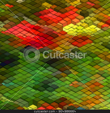 Abstract 3d colorful mosaic background. EPS8 stock vector clipart, Abstract 3d colorful mosaic background. EPS 8 vector file included by Vladimir Petrov