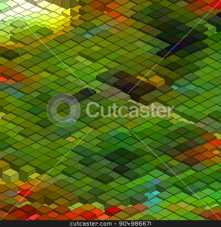 Abstract 3d colorful mosaic background. EPS 8 stock vector clipart, Abstract 3d colorful mosaic background. EPS 8 vector file included by Vladimir Petrov