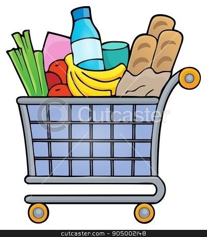 Shopping cart theme image 1 stock vector clipart, Shopping cart theme image 1 - eps10 vector illustration. by Klara Viskova