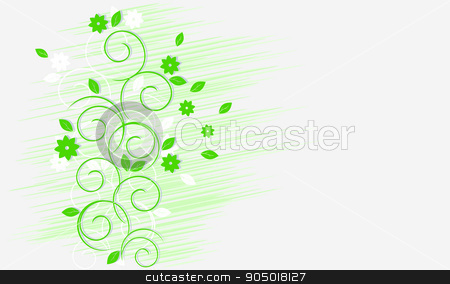 Light green curls  stock vector clipart, Light green curls on a white background by sergeevana