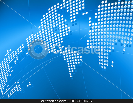Vector background with map of the world stock vector clipart, Vector background with map of the world in eps8 by Maksim Rybak