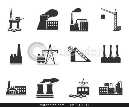 Factory and Industry Symbols stock vector clipart, Factory and Industry  simply symbols for web and user interface by Maksim Rybak