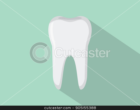 tooth isolated with green background stock vector clipart, tooth isolated with green background vector illustration by teguhjatipras