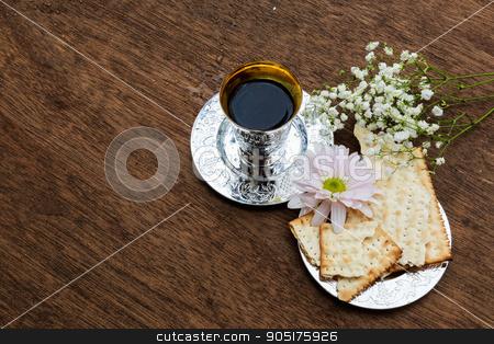 Pesach Still-life with wine and matzoh jewish passover bread stock photo, Pesach matzo passover with wine and matzoh jewish passover bread by valentyn semenov